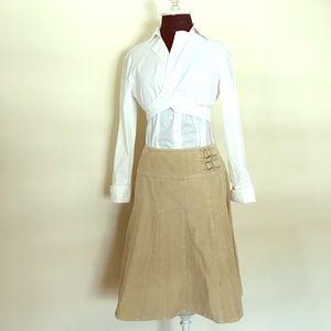 Garnet Hill Corduroy flared skirt